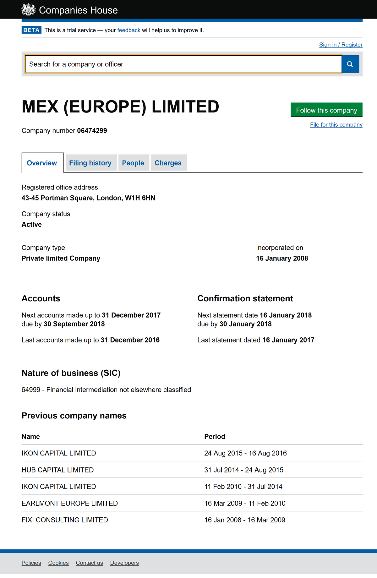 'MEX (EUROPE) LIMITED-beta_companieshouse_gov_uk_company_06474299.