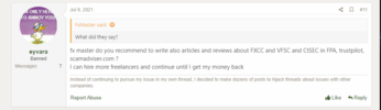 Banned user's intentions to blackmail FXCC using freelancers' help.png